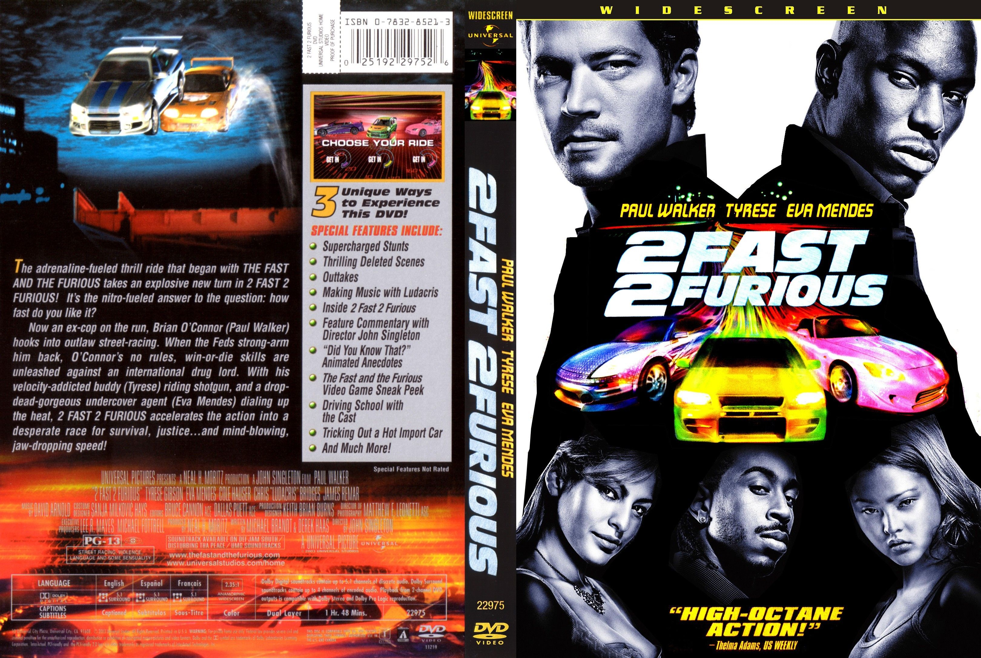 Pictures Of2fast 2 Furious 1 Dvd 2 Fast 2 Furious Dvd Cover
