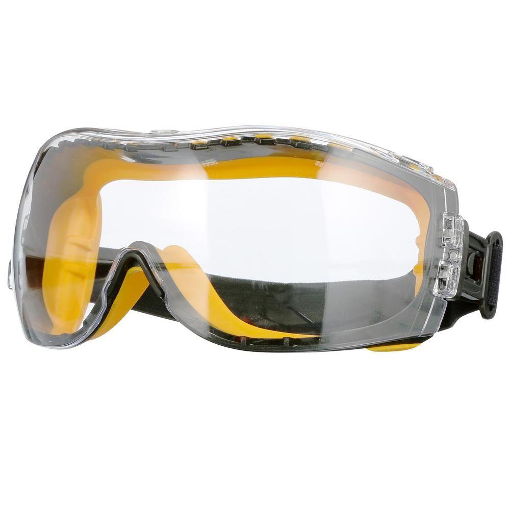 Dewalt safety goggles concealer with clear antifog lens