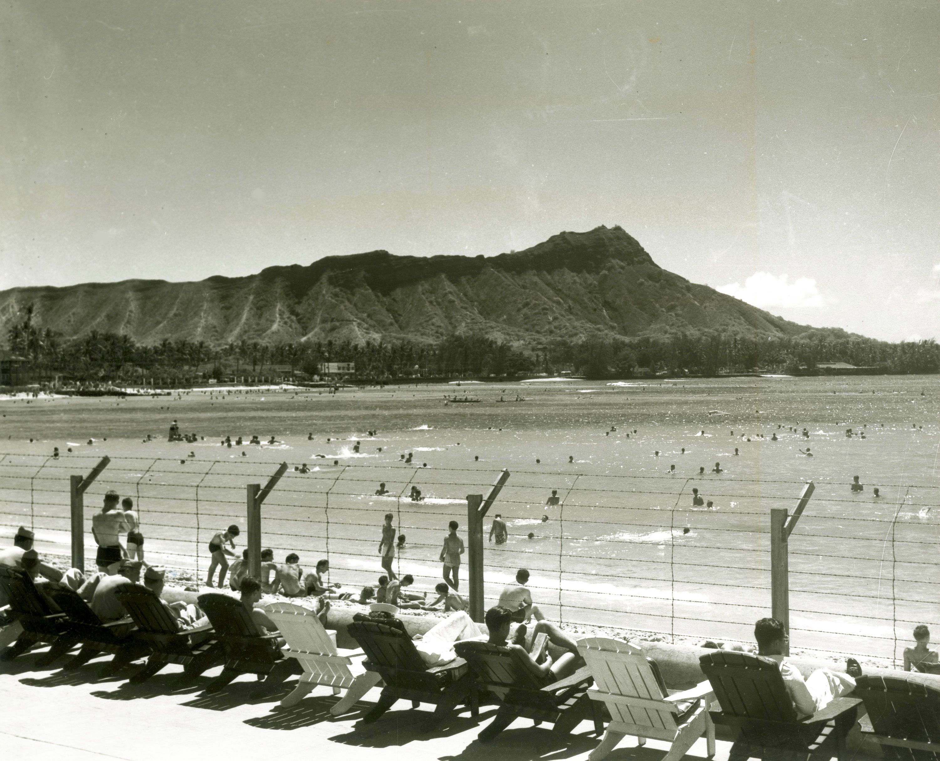 Waikīkī Beach was lined with barbed wire and the Royal Hawaiian ...