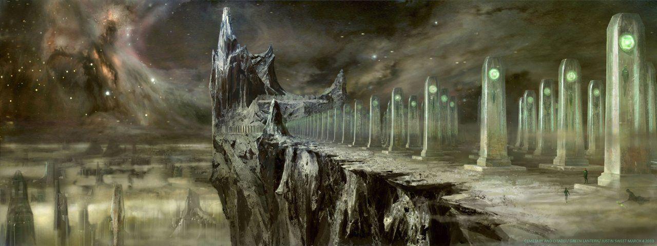 Green Lantern landscape concept art