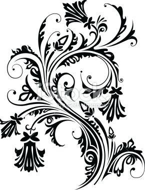 floral pattern for design of printed products illustrations vectorielles vectoriel et baroque. Black Bedroom Furniture Sets. Home Design Ideas