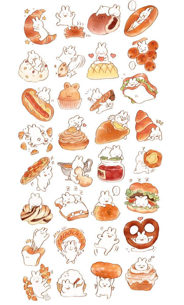 ao : 画像 | foodhunter | pinterest | スタンプ、パン、食べ物
