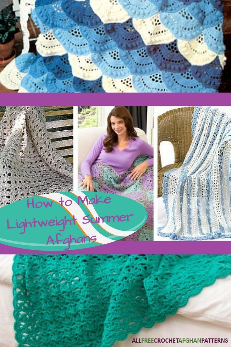 These lacy and lightweight crochet afghan patterns will remind you ...