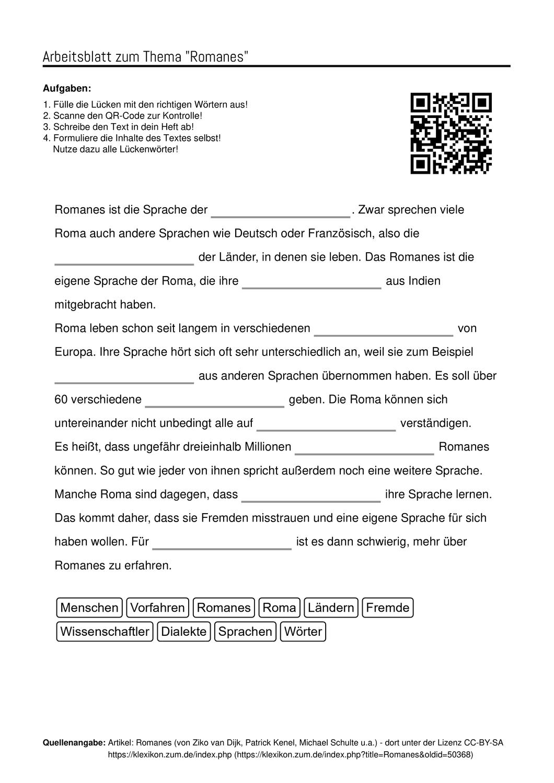 Arbeitsblatter Zum Thema In 2020 Arbeitsblatter Unterricht Schule Arbeit