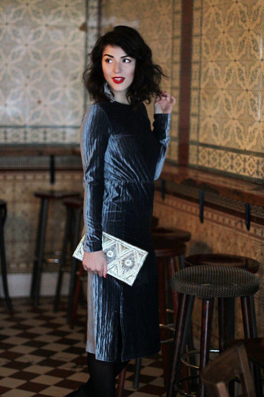 christmas look velvet midi dress glamorous tall asos balmain ...