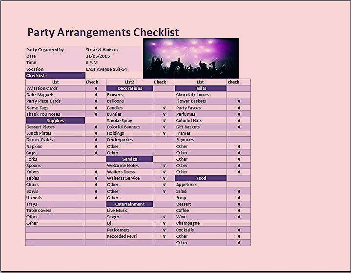 Photo of Party Planning Checklist