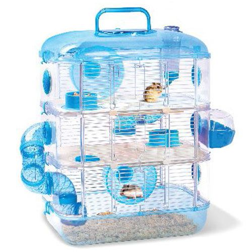 jolly 3 storey crystal hamster cage in blue. Black Bedroom Furniture Sets. Home Design Ideas