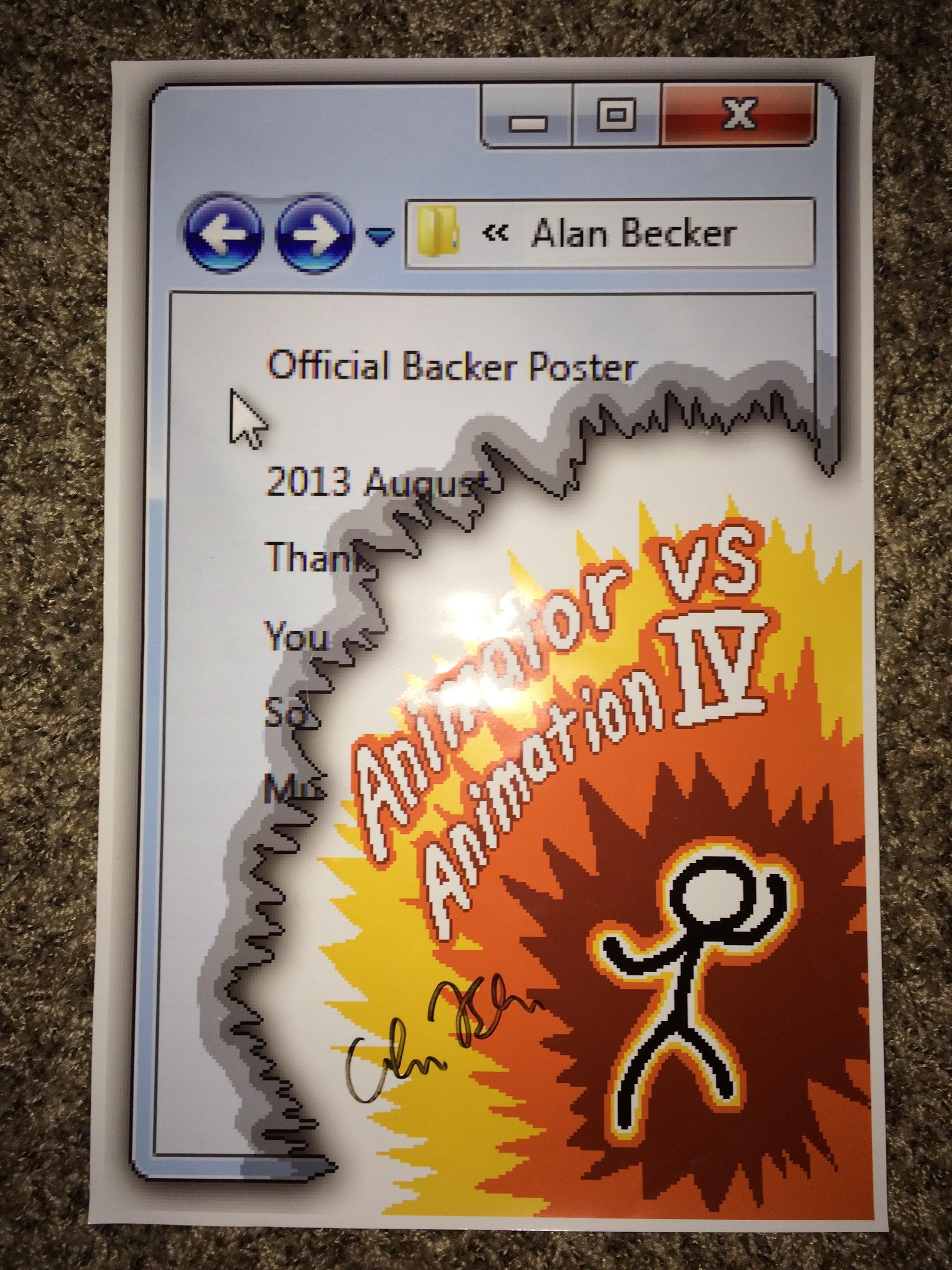 Jktheadventurer S Animator Vs Animation Iv Signed Poster By