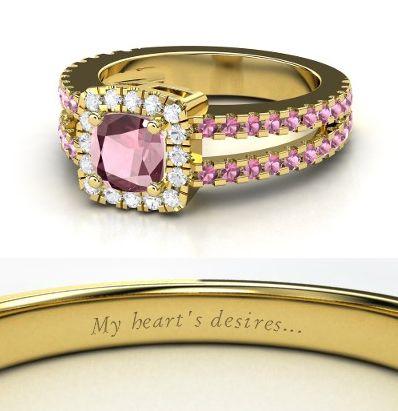 Disney inspired engagement rings Giselle DISNEY ROCKS