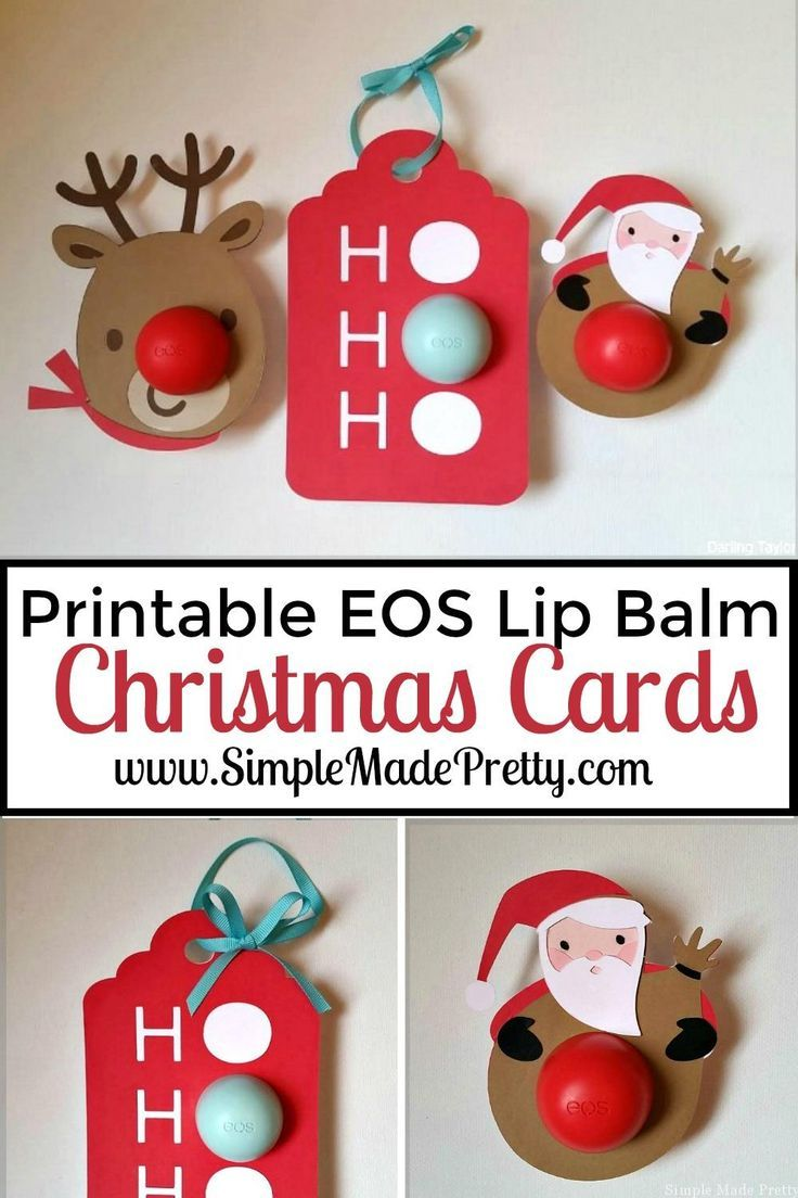 Printable Christmas Themed EOS Lip Balm Cards | printables ...