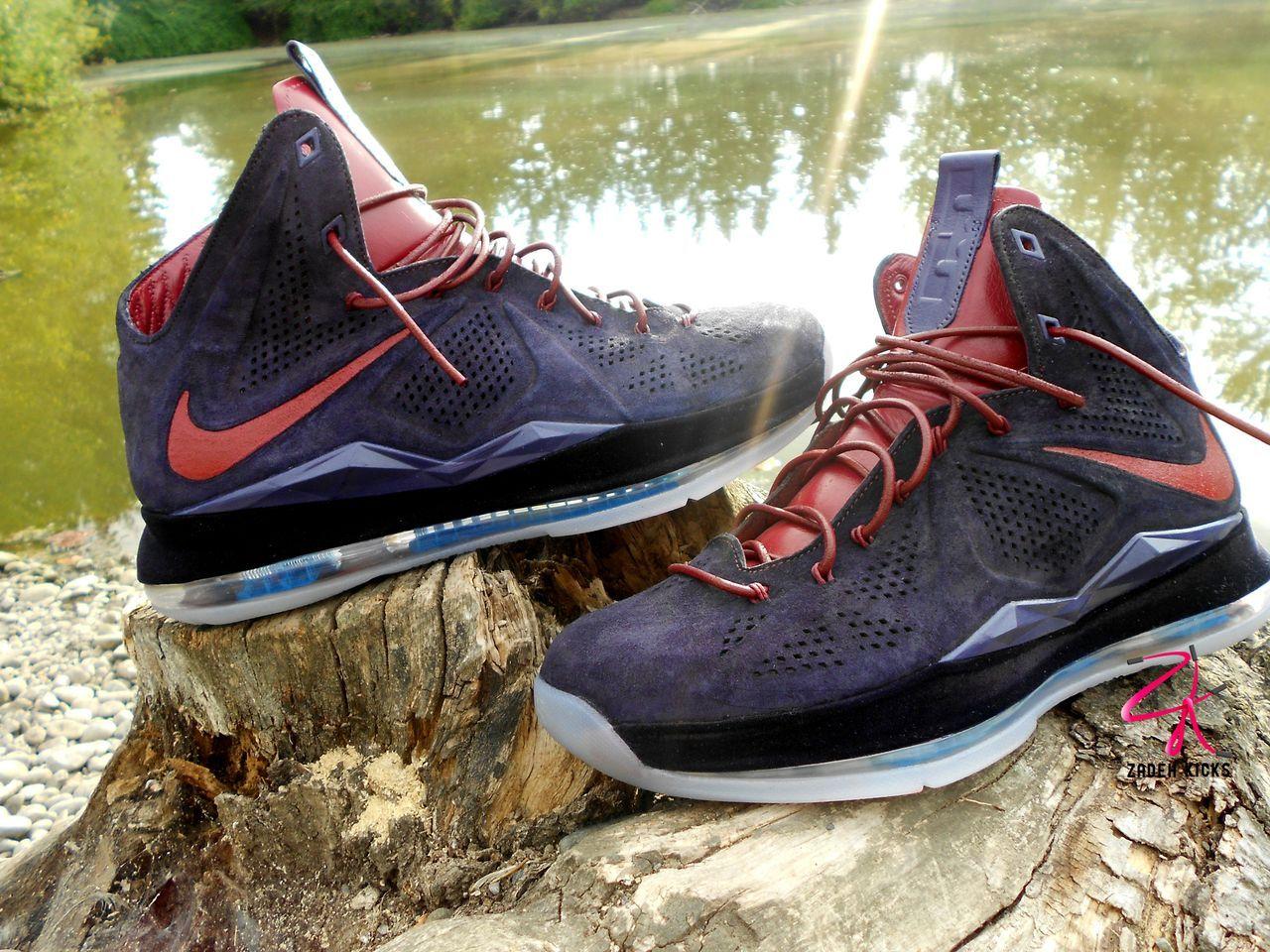 9c23d2686a6 plum lebron ext customs 10 Nike LeBron X EXT Plum Customs by Zadeh Kicks