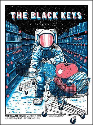 Tim Doyle Black Keys 2012 Tour Opening Show Poster - Cincinnati
