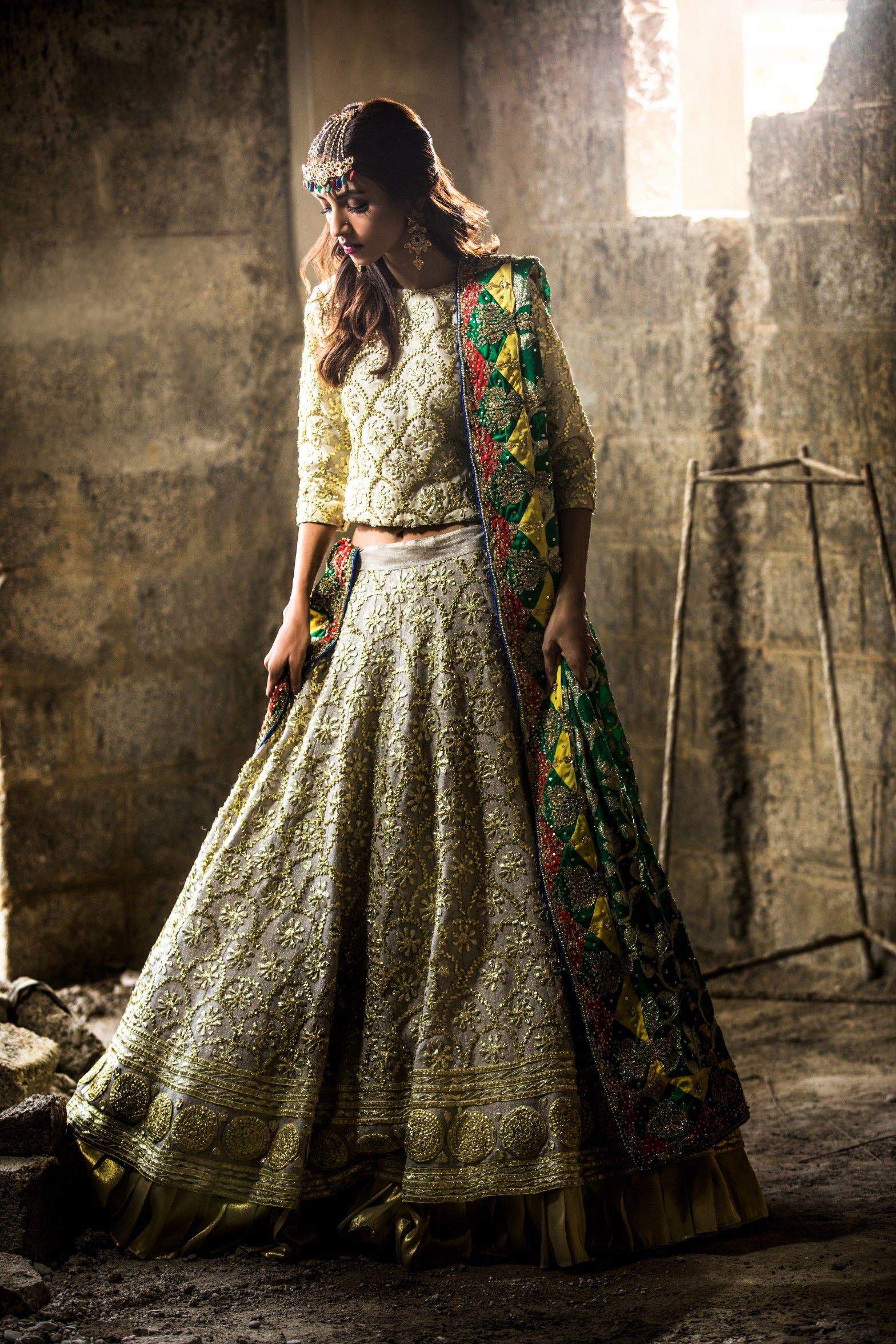 780a789c5c ... elegant yellowish heavy worked bridal dress by Sanober Azfar Pakistani  Bridal wears#springcollection #spring #readytowear #pretwear #unstitched # online ...