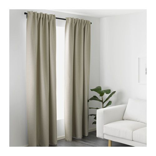 Vilborg Gardinenpaar, Beige | Track, The O'jays And Curtain Rods Beige Wei Ikea