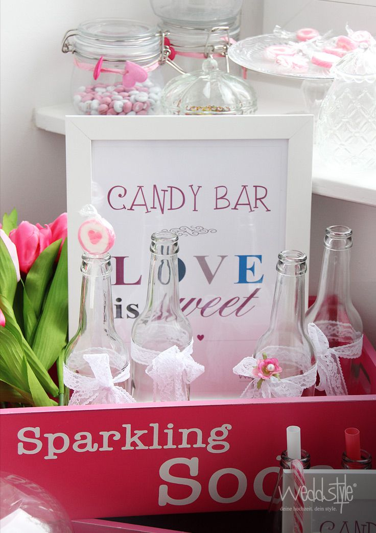 candy bar schild idee weddstyle candy bar. Black Bedroom Furniture Sets. Home Design Ideas