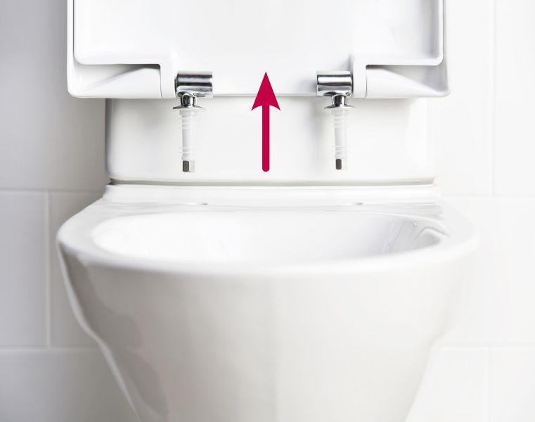 IDO Seven D -sarjan wc-istuinkansiin saa kätevän Quick Release -toiminnon, jonka ansiosta kansi on helppo irrottaa wc:n puhdistamisen ajaksi.