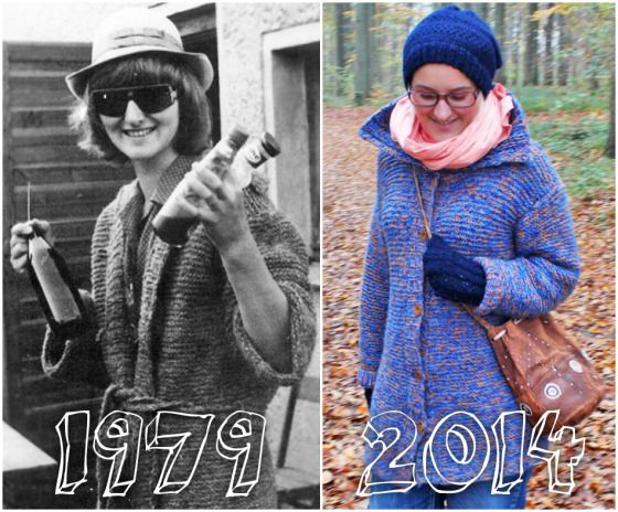 Thrifty Throwback Thursday: Muttis Strickjacke | Ninutschkanns.com #thriftythrowbackthursday #throwbackstyle #coat #strick #cardigan #past #vintagestyle #70s #outfit #look