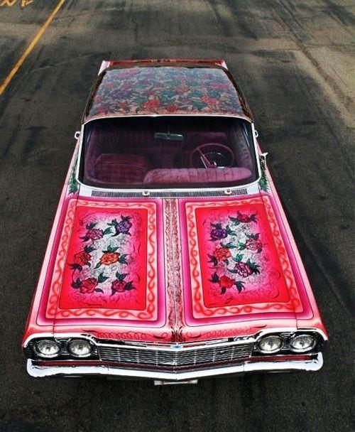 Chevy Impala~ Flower Power..
