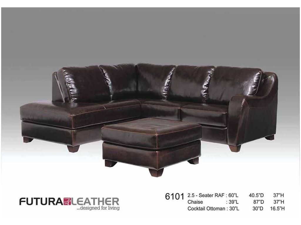 Futura Sectional Leather Amp 8199 Sectional By Futura