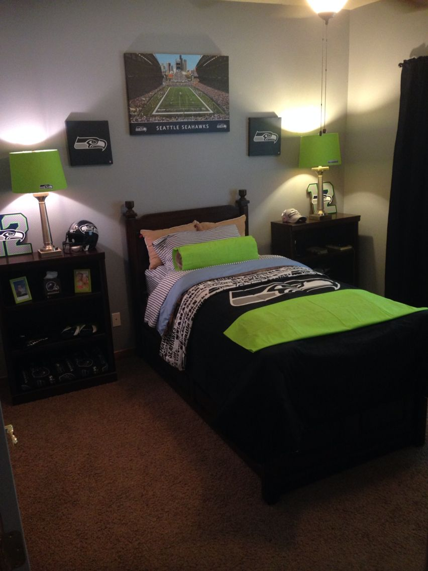 Seahawk Bedroom Seahawks Pinterest Bedrooms Room
