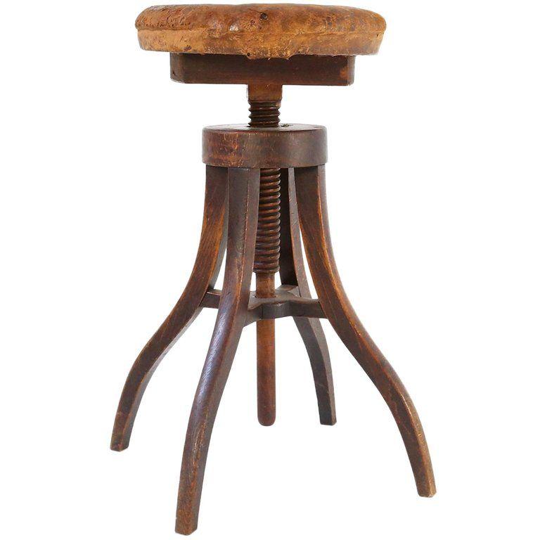 1900s Danish Artist S Adjustable Industrial Wood Leather