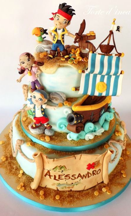 Jake and The Neverland Pirates Cake Cakes and Cupcakes for Kids