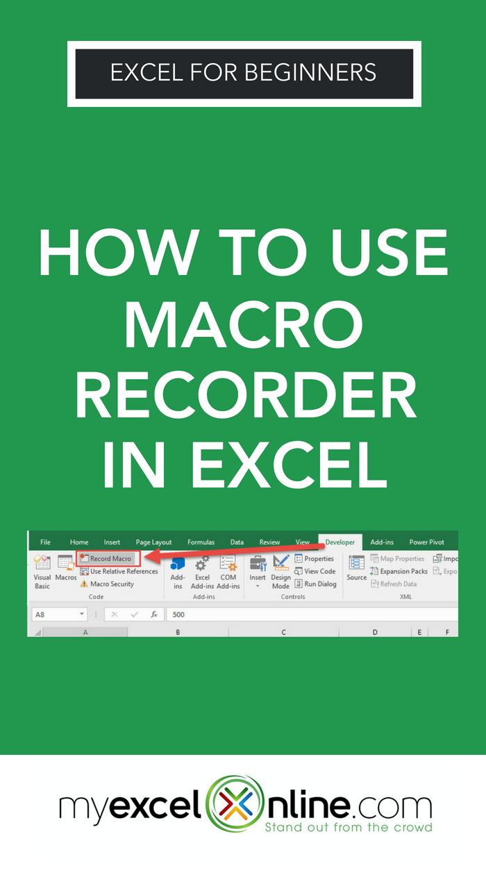 excel using macro recorder