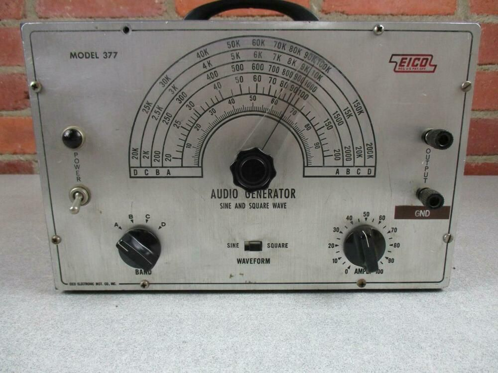 Eico Audio Generator Sine And Square Wave Model 377 Works