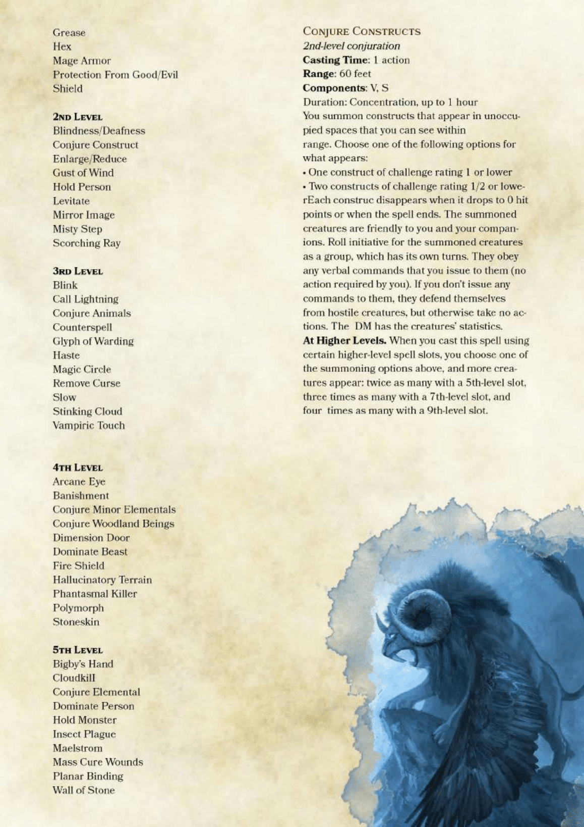 "dnd-5e-homebrew: ""Eidolist Class by PoundTown00 "" I really"