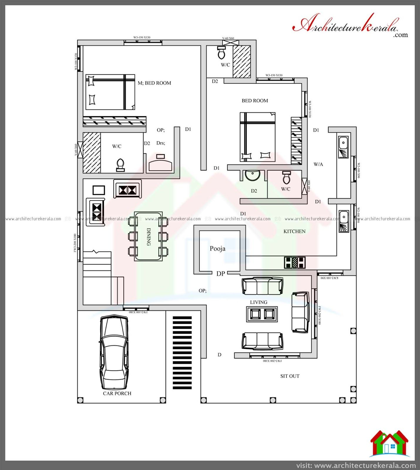 4 bedroom house plans in kerala