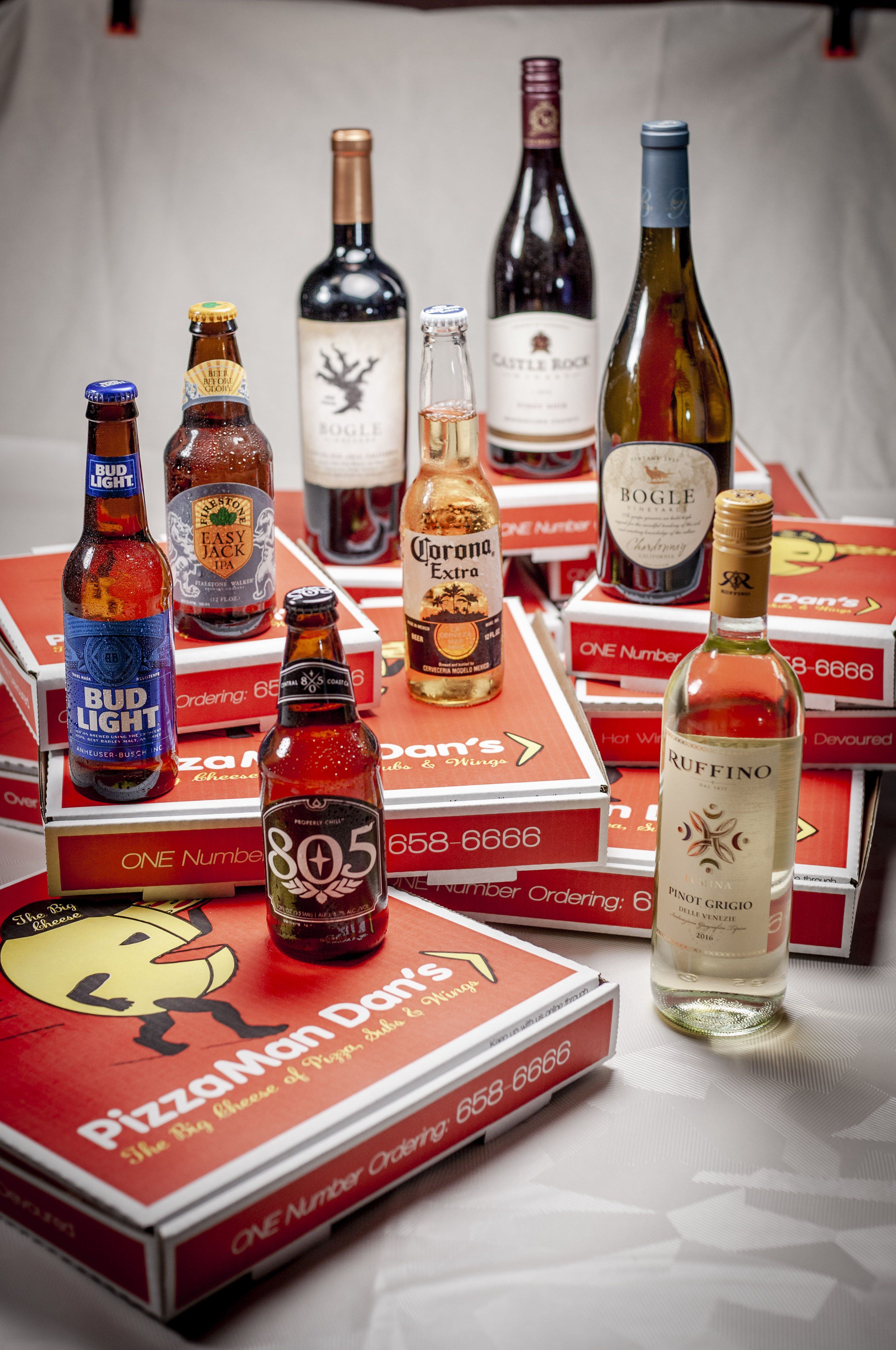 Pizza And Wine Yes Please Pizzamandans Did You Know Pizzaman Dan S Was The First Pizzeria In California To D Ice Cold Beer Favourite Pizza Wine Delivery