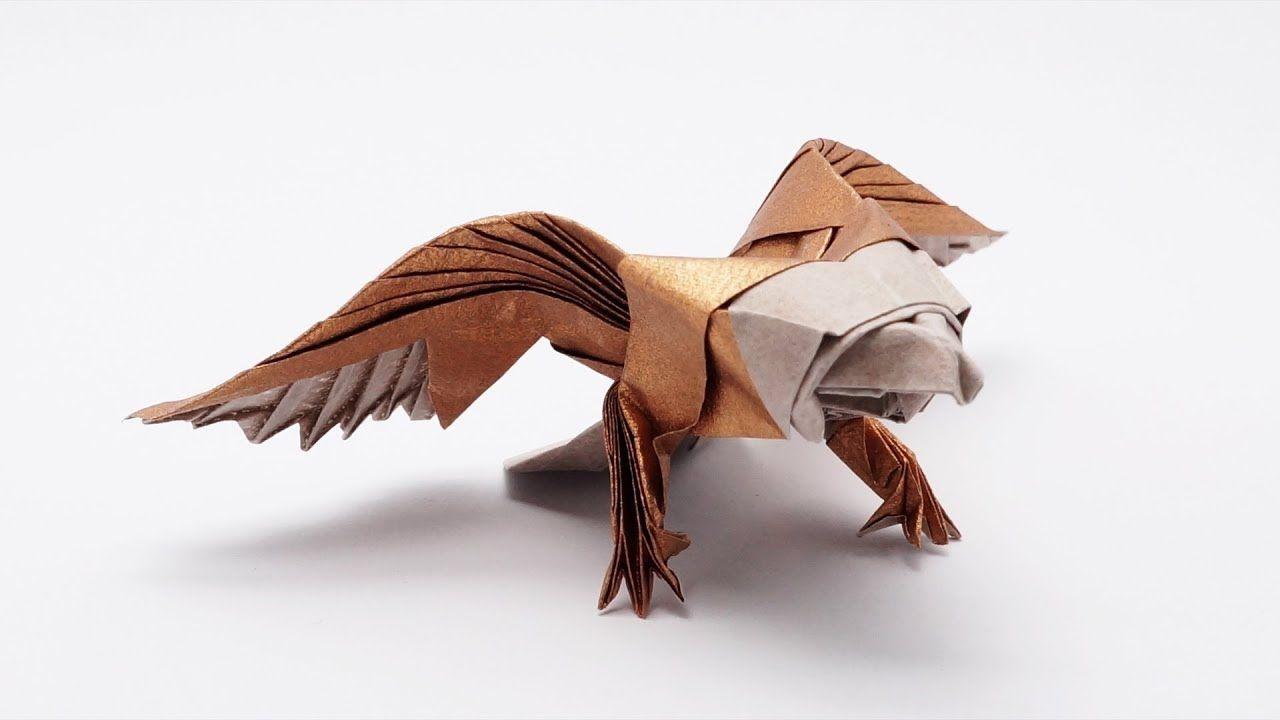 Origami American Eagle Jo Nakashima Dragon Diagram