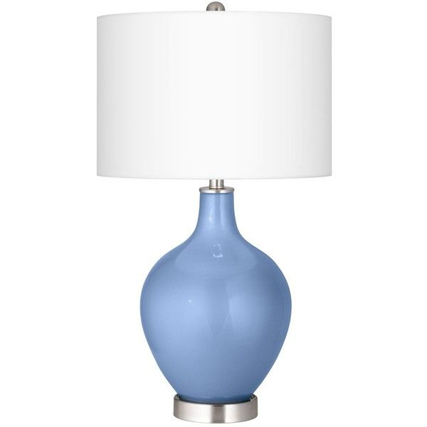 Color Plus Tempest Metallic Ovo Table Lamp ($100) ❤ liked on Polyvore featuring home, lighting, table lamps, blue, handmade lamps, colored lamps, contemporary modern lighting, contemporary lamps and metallic lamp