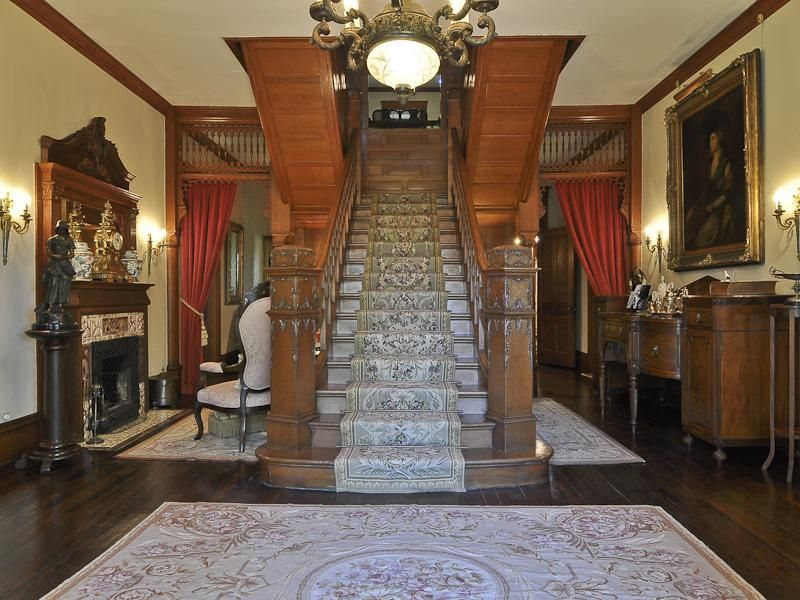 Old Victorian Gothic Mansion Interior Built In 1894