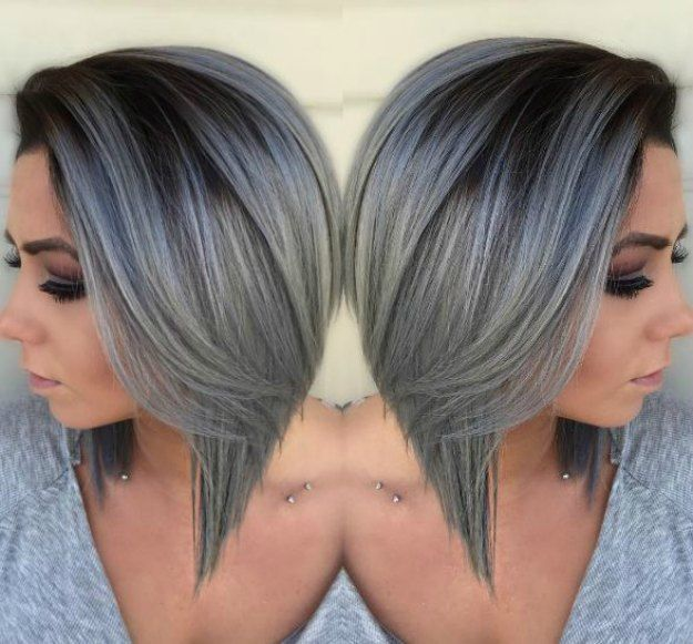 Beautiful Silver Ombre Hairstyles For Short Hair Ombre