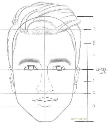 Beroemd Learn how to draw a face in 8 easy steps: Beginners | Pinterest  @ST51