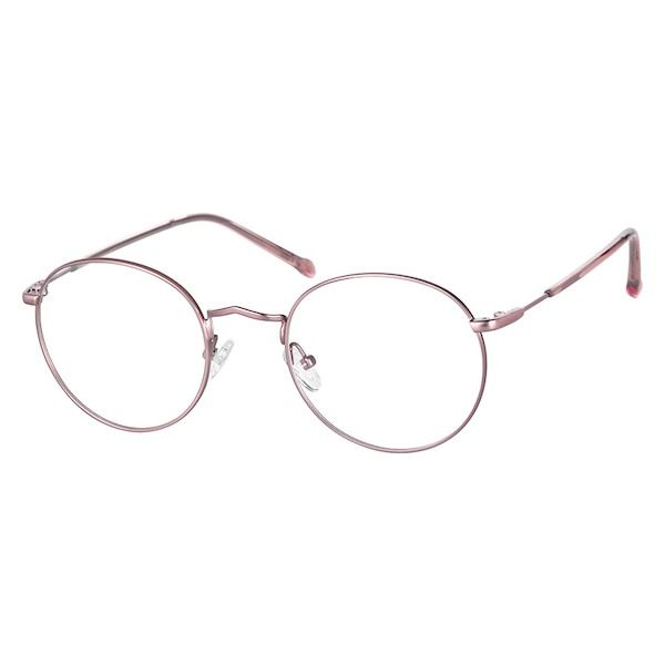 7b694632d4 Zenni Round Prescription Glasses Rose Gold Stainless Steel 3213219 Round  Eyeglasses