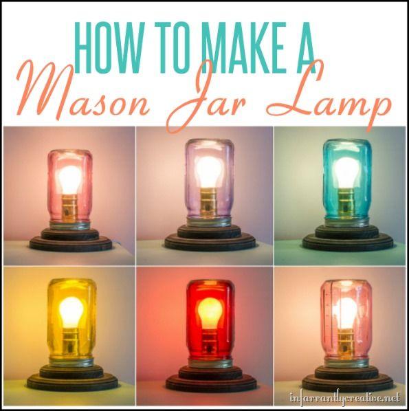 Mason jar table lamp jar homestead survival and homesteads mason jar table lamp infarrantly creative mozeypictures Gallery