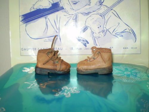 RARE-FOR-BLEUETTE-DOLL-ORIGINAL-G-L-SKI-BOOTS-PERIOD-LATE-1930-in-V-G-C