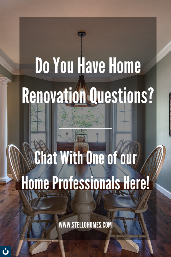 Live chat with one of our licensed #HomeProfessionals today! #StelloHomes is always available and happy to help. Whether you want to #flip your #home or sell it, we can answer any question you have about the process from start to finish. We let our work and speak for itself, and we would love the opportunity to improve your life through your home. If you like our work and think we might be a good fit for your #NorthernVirginia or #WashingtonDC project, get in touch with us today!