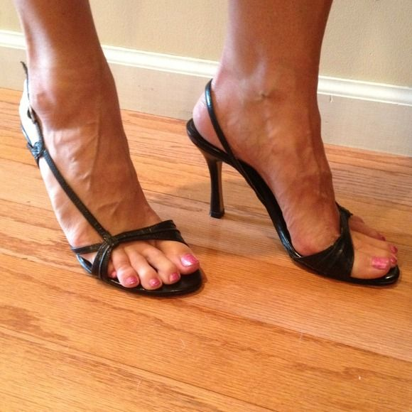 Nine West black heels 4 inch heel. I love these shoes but I just have too many similar ones. Nine West Shoes Heels
