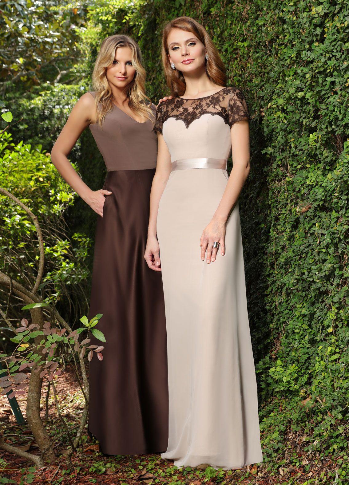 Impression bridesmaids left right bridesmaid gowns