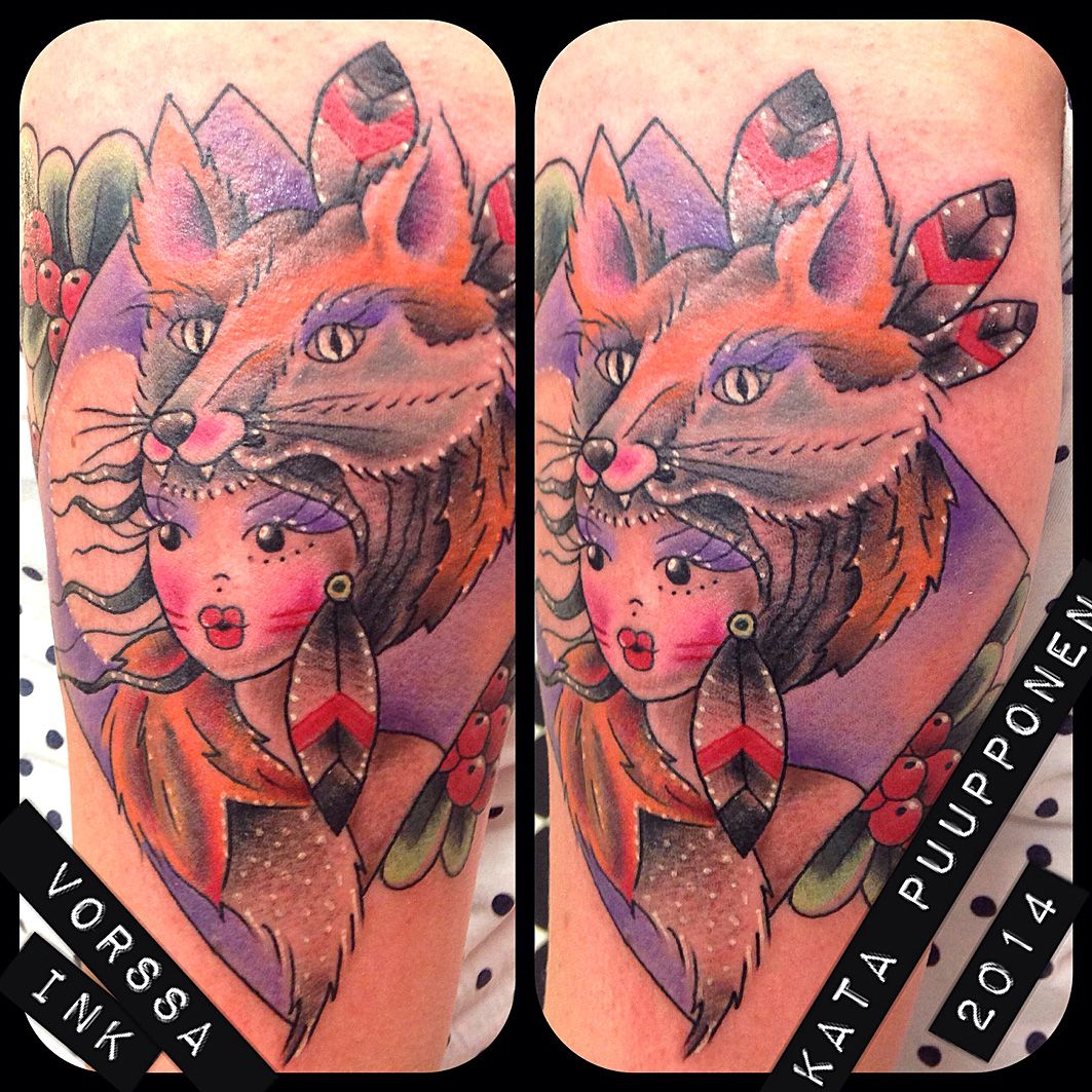 https://www.facebook.com/VorssaInk, http://tattoosbykata.blogspot.fi, #tattoo #tatuointi #katapuupponen #vorssaink #forssa #finland #traditionaltattoo #suomi #oldschool #pinup #fox