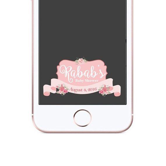 Floral Bridal Shower Snapchat Filter Bachelorette Party Geotag 24 Hour Turn Around Wedding Shower Geofilter White Flower Geo Filter