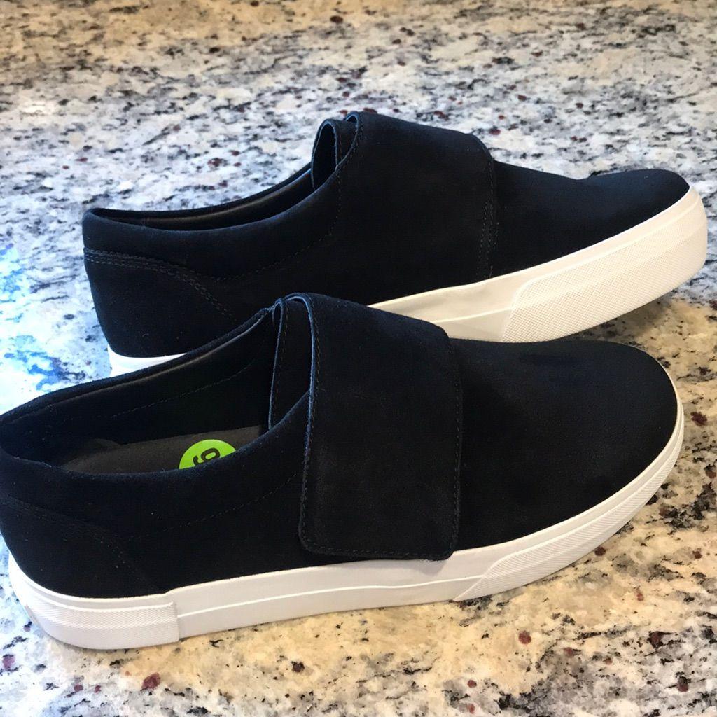 Vince Genuine Suede Velcro Sneakers