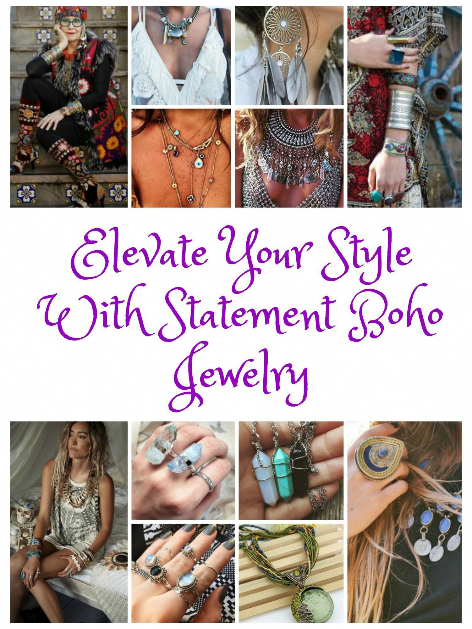 Photo of Elevate Your Style With Statement Boho Jewelry #silverjewelrycleaningsalts