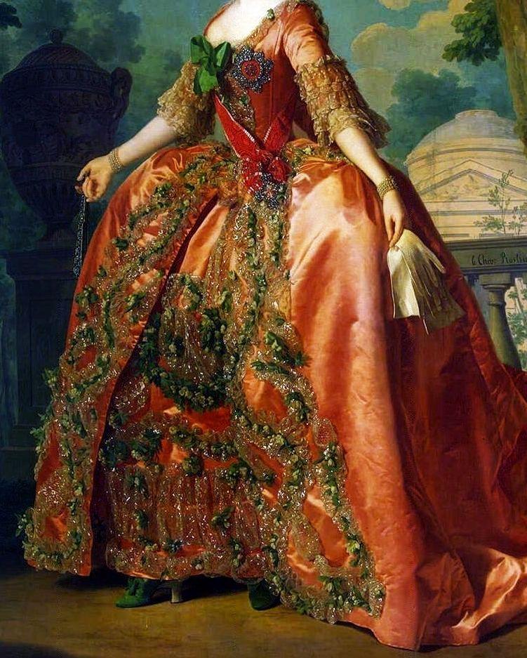 Empress Maria Feodorovna's dress. Portrait by Alexander Roslin, 1777