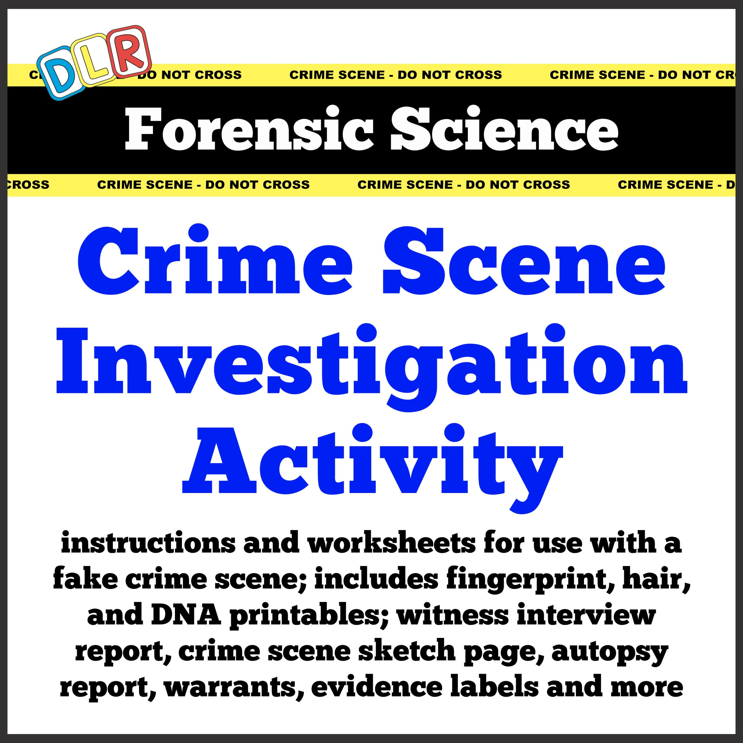 Crime Scene Printables Information Pages Activity