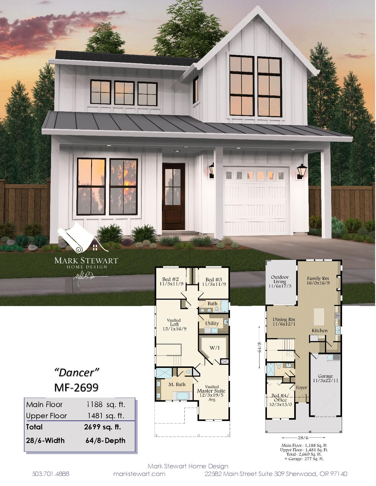 Dancer House Plan Two Story Modern Farmhouse Plans With Garage Small Farmhouse Plans Modern Farmhouse Plans Farmhouse Plans