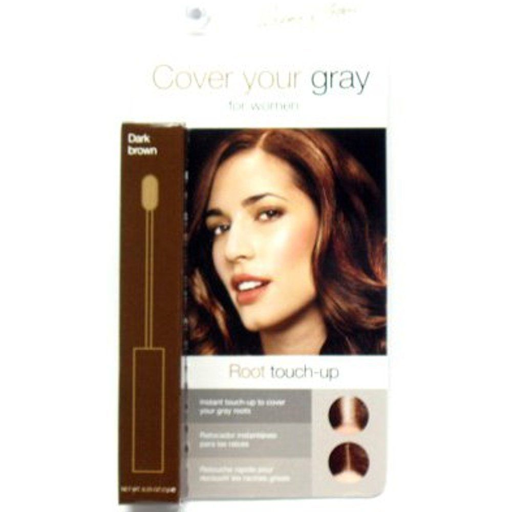 Best Cover Gray Hair Instantly Brush In Wand Hair Color Dark Brown